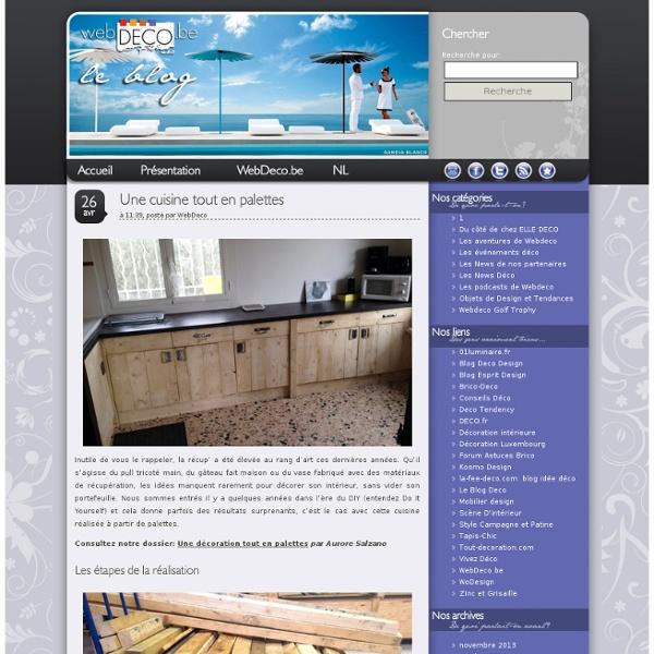 WebDeco, le Blog » Une cuisine tout en palettes