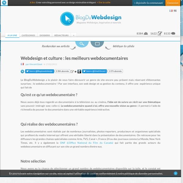 Webdesign et culture : les meilleurs webdocumentaires