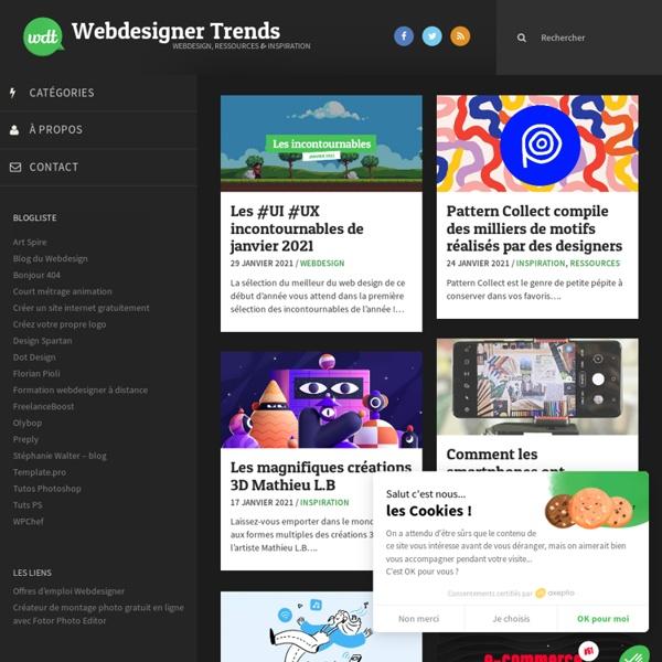 WebdesignerTrends - Ressources utiles pour le webdesign, actus du web, sélection de sites et de tutoriels