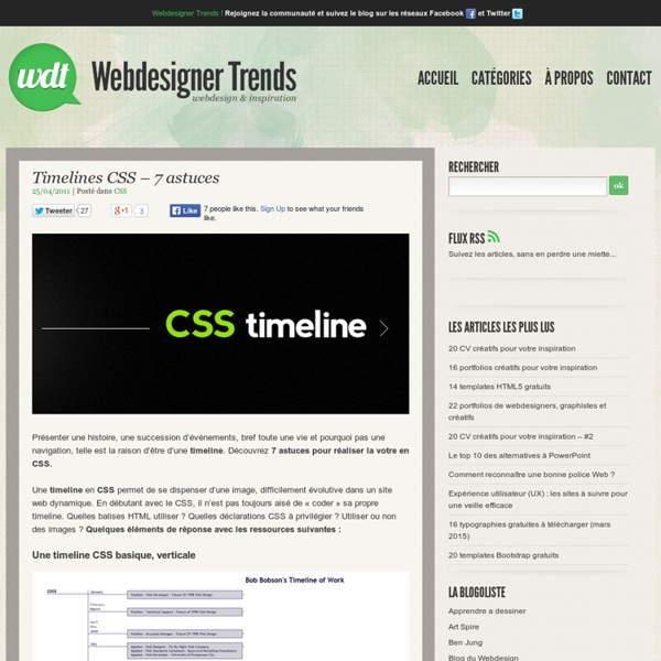 Timelines CSS - 7 astuces