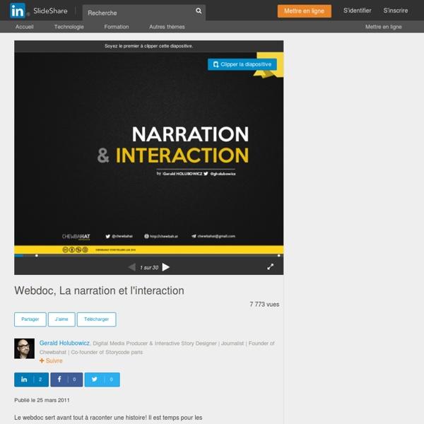 Webdoc, La narration et l'interaction