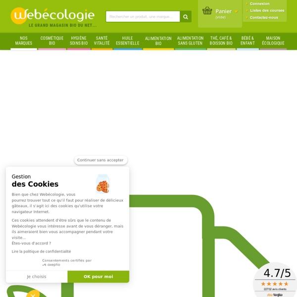 Webecologie, le magasin bio. Produit bio et naturel. Produits écologiques & biologiques