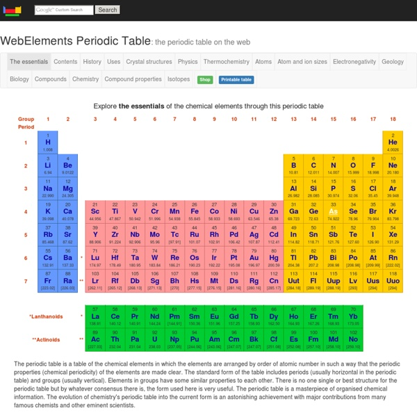 Webelements periodic table of the elements pearltrees webelements periodic table of the elements urtaz Image collections