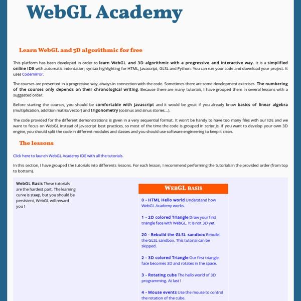 WebGL Academy MOOC