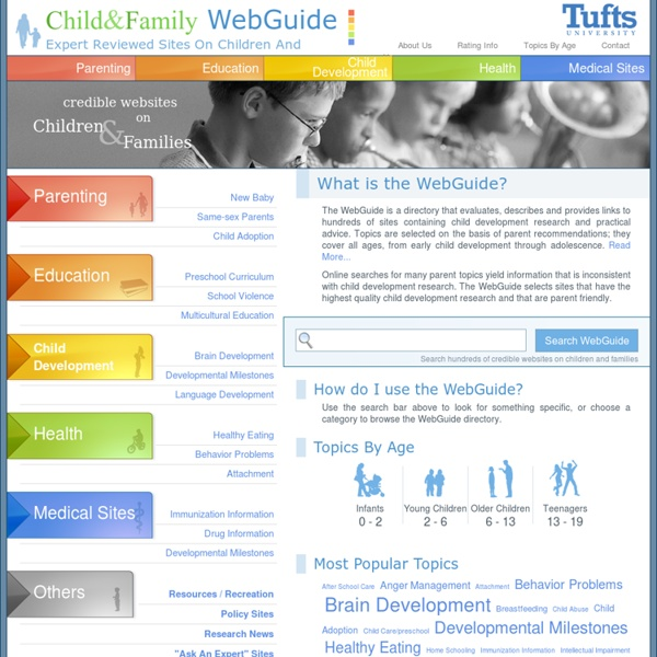 Child & Family WebGuide - a directory of sites on child development, teenager and family issues.