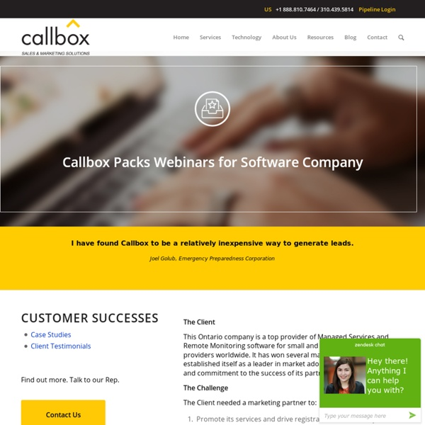 Callbox Packs Webinars for Software Company - Malaysia B2B Lead Generation