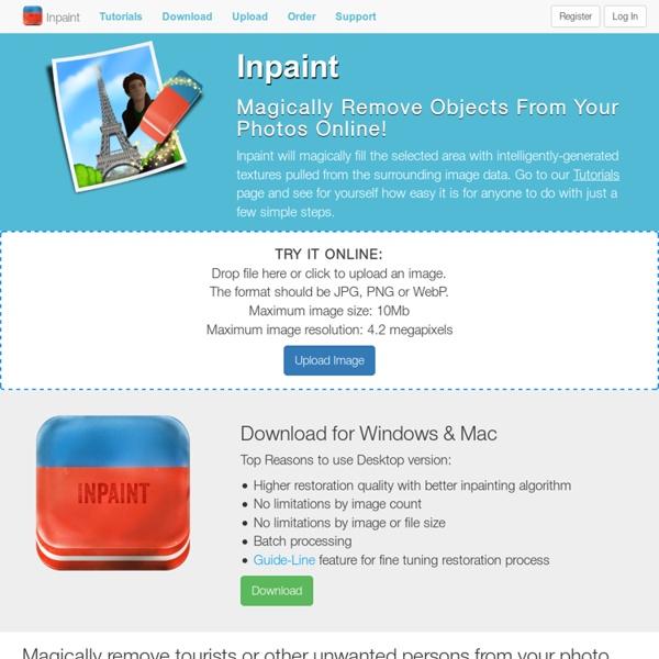 WebInpaint FREE online photo restoration tool