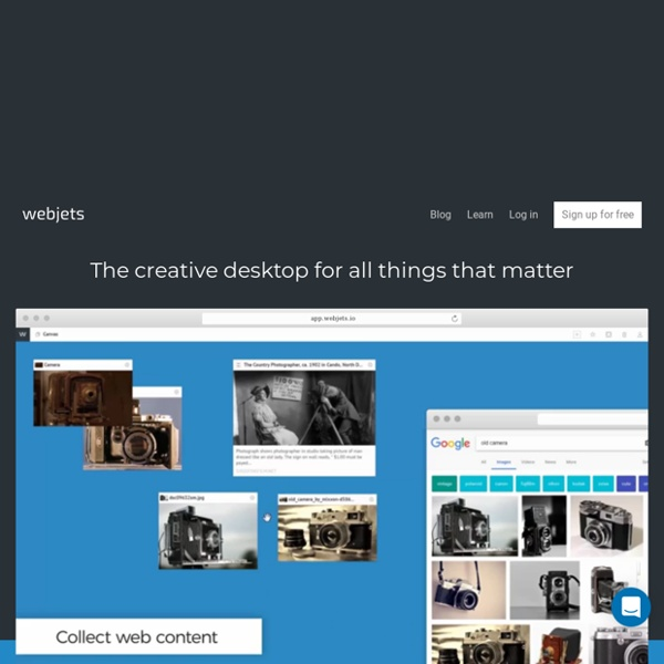 Webjets.io – The new way to collect, organize and share anything