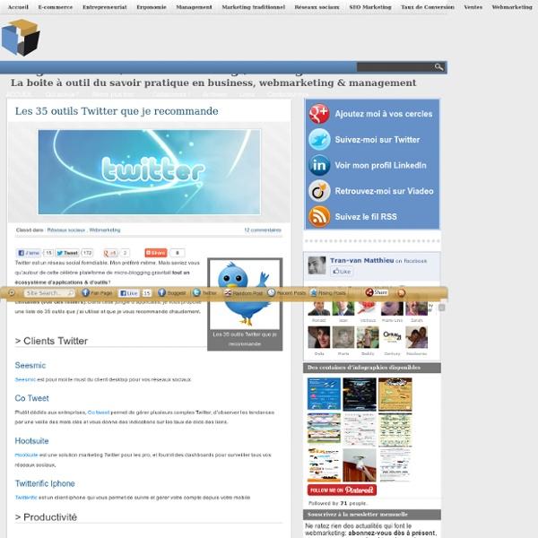 Les 35 outils Twitter que je recommande