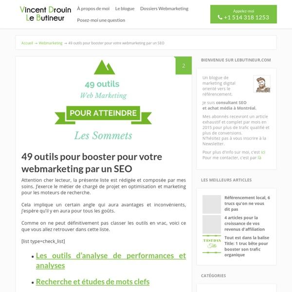 49 outils webmarketing. Les couteaux suisses du webmarketer!