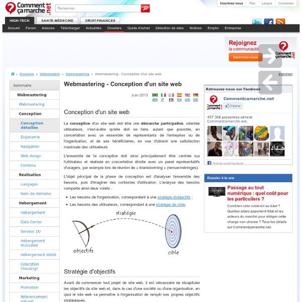 Webmastering - Conception d'un site web