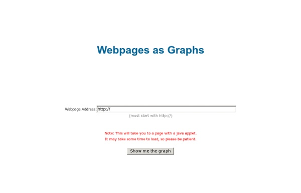 Webpages as graphs - an HTML DOM Visualizer Applet