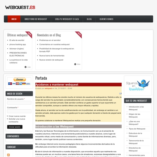 Webquest: Concepto, Origen, Estructura, Plantillas, Crear webquest