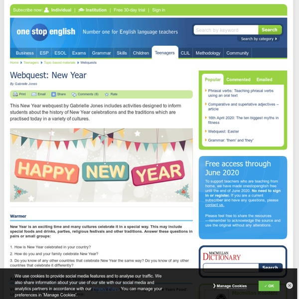 Webquest: New Year