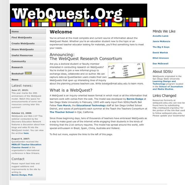 WebQuest.Org: Home
