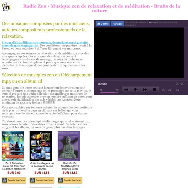 Radio Zen - webradio de musique de relaxation gratuite