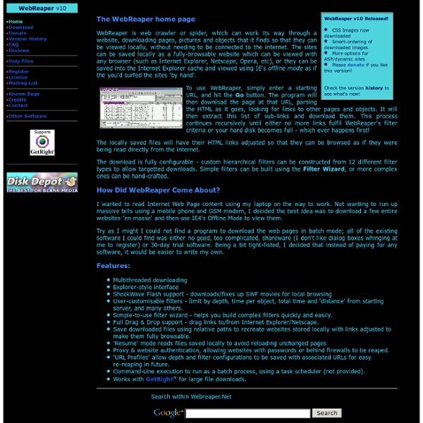 WebReaper - Introduction