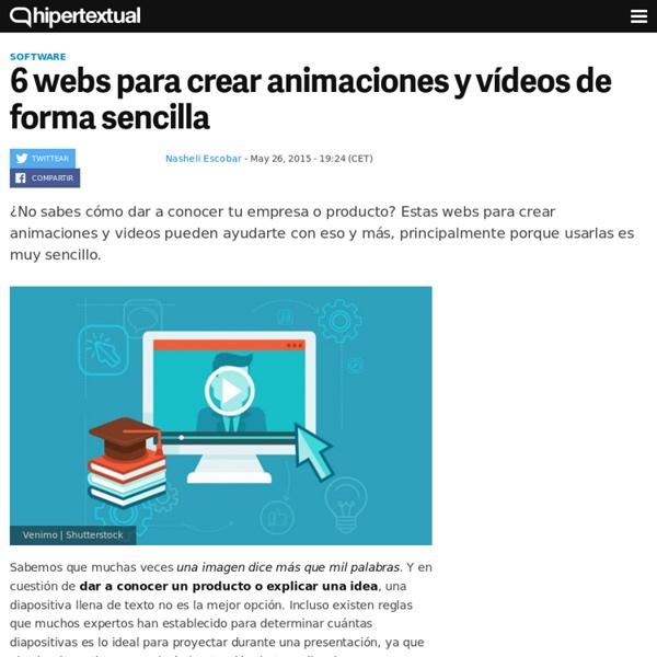 6 webs para crear animaciones y vídeos