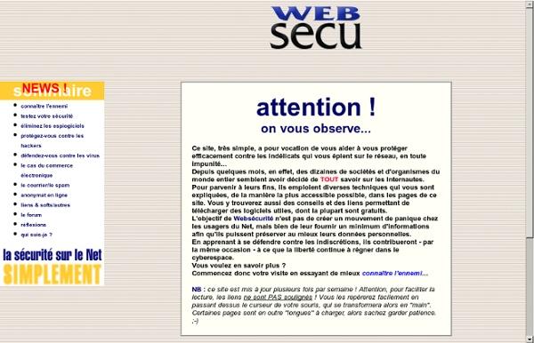 Websécurité - Web et sécurité.
