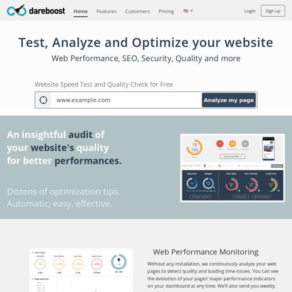 Analyse de site Web, Test de Performance et Audit qualité