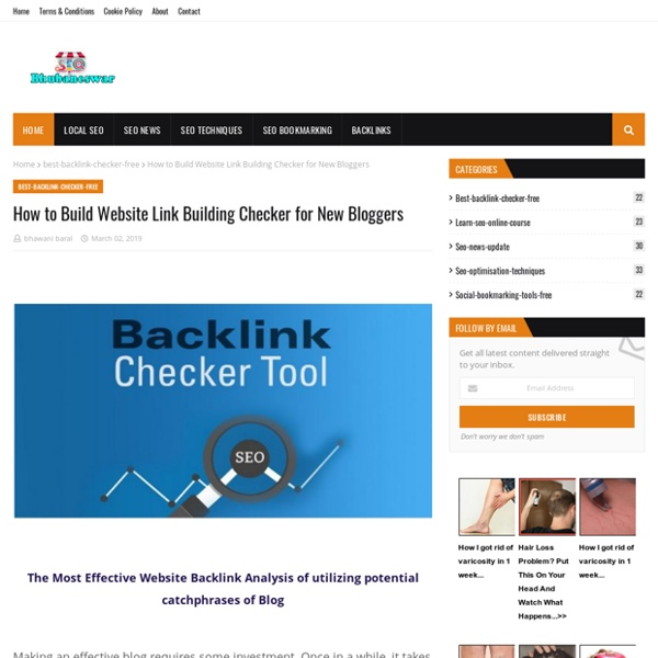 How to Build Website Link Building Checker for New Bloggers