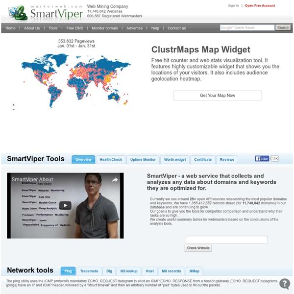 SmartViper - domain worth analyzer, historical statistics. Knowledge Is Power