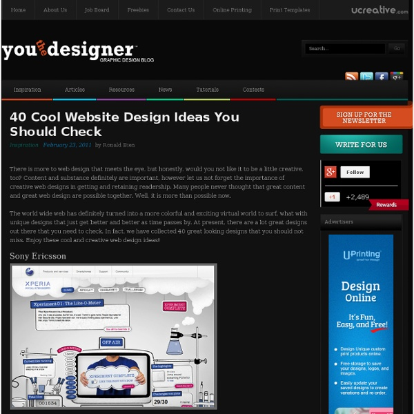 40 cool website design ideas you should check pearltrees - Great Website Design Ideas