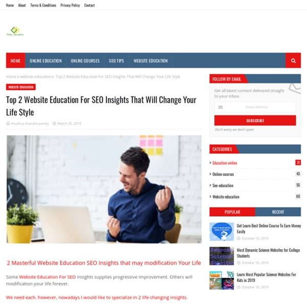 Top 2 Website Education For SEO Insights That Will Change Your Life Style