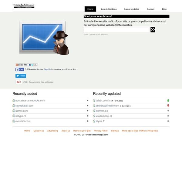 Web Site Traffic Spy - WebsiteTrafficSpy.com