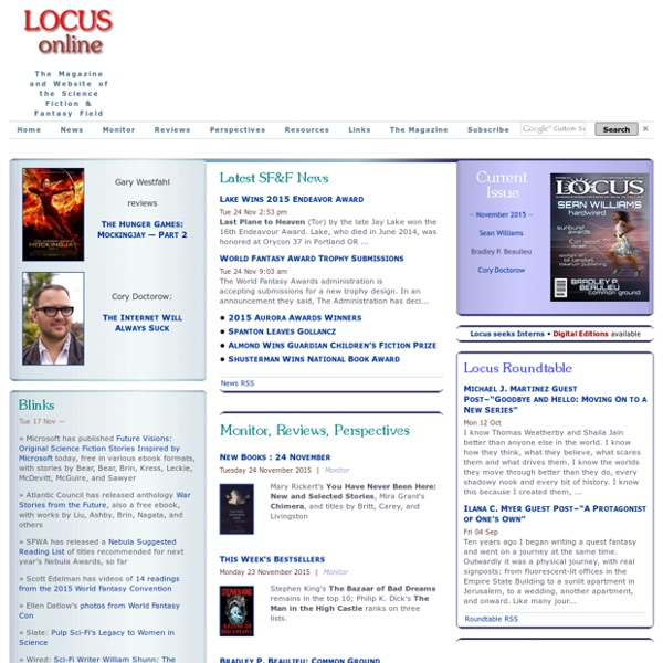 Locus Online: The Website of The Magazine of the Science Fiction & Fantasy Field