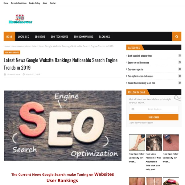Latest News Google Website Rankings Noticeable Search Engine Trends in 2019