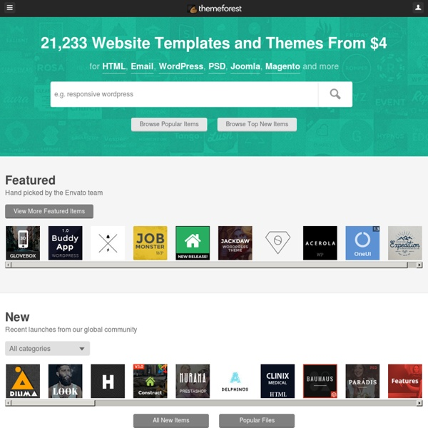 Themeforest | Pearltrees