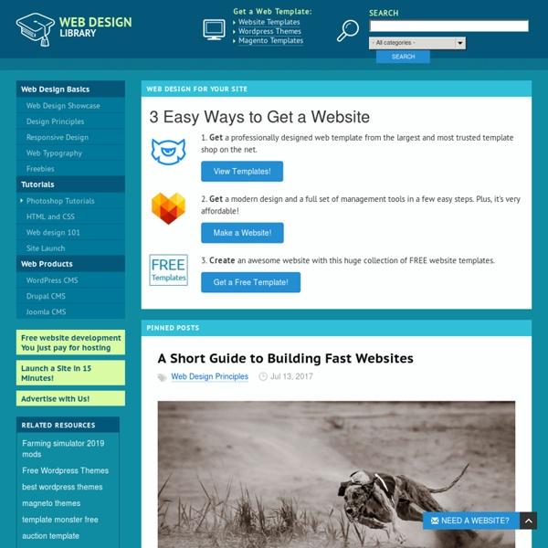 Web Design - Website Design Tutorials, Articles and Free Stuff