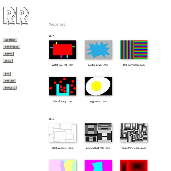 Rafaël Rozendaal's Websites