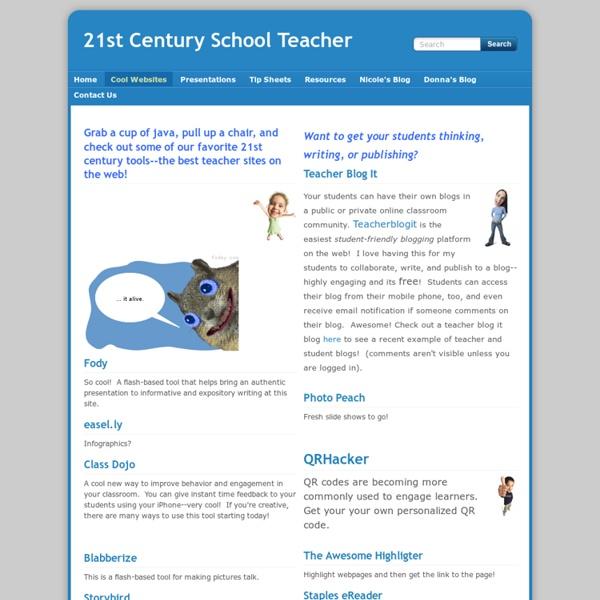 Cool Websites - 21st Century School Teacher