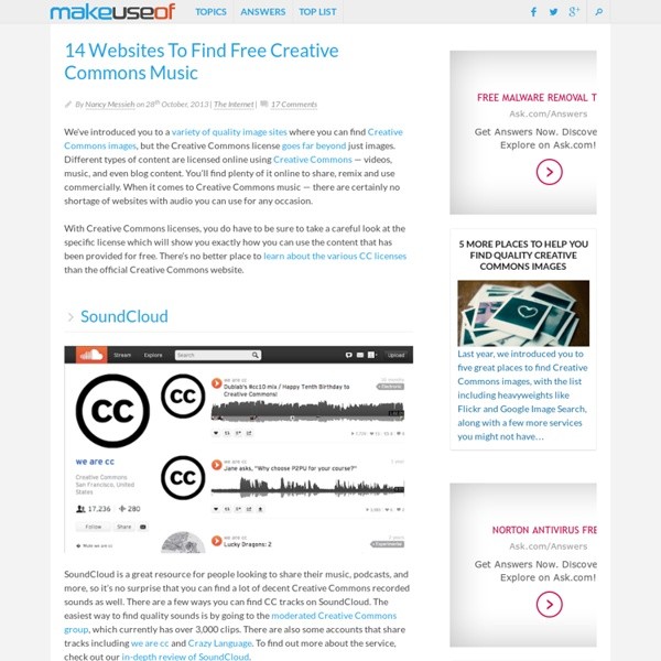 14 sitios web para encontrar libre de Creative Commons Música