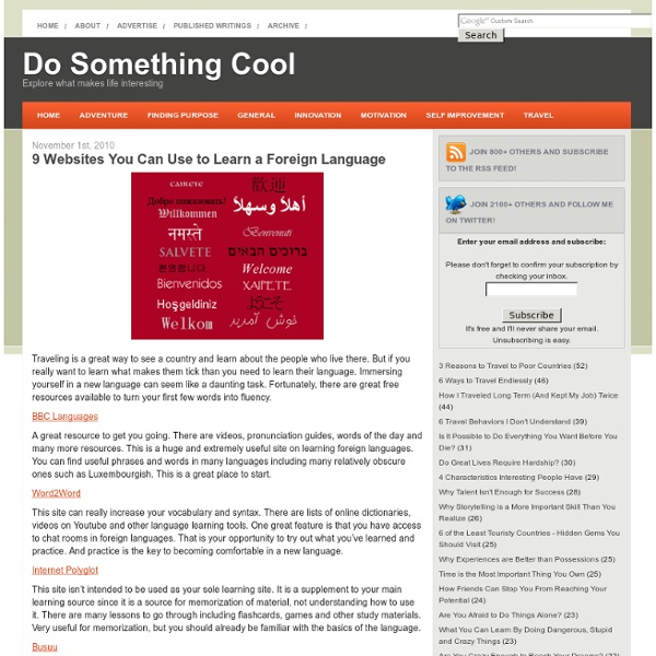 9 Websites You Can Use to Learn a Foreign Language - StumbleUpon