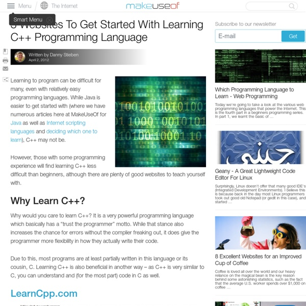 3 Websites To Get Started With Learning C++ Programming