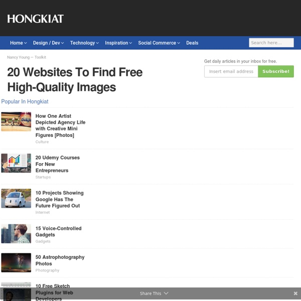 20 Websites To Find Free High-Quality Images