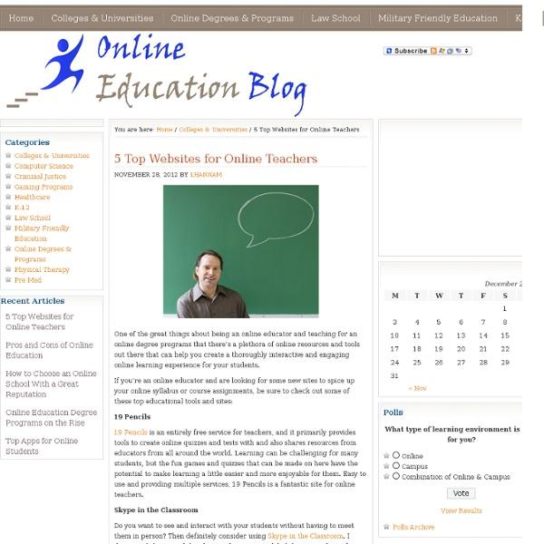 5 Tools & Websites for Online Teachers - Online Education Blog