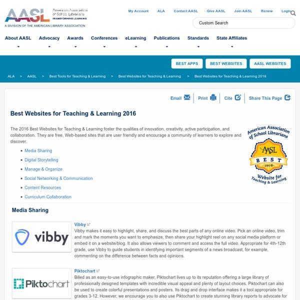 Best Websites for Teaching & Learning 2016