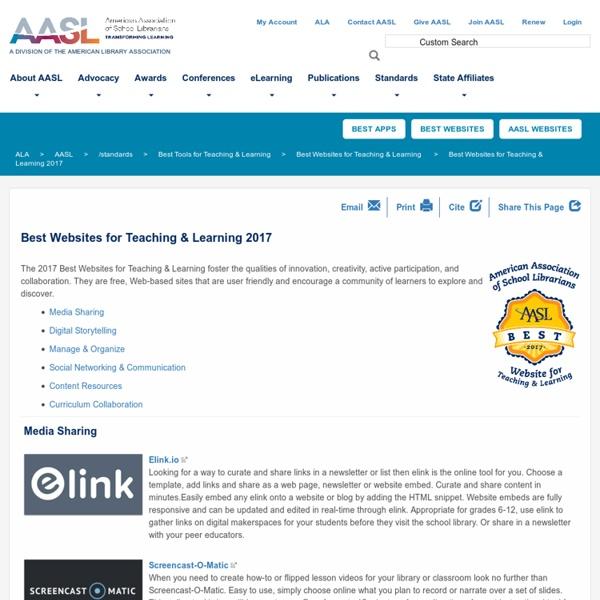 Best Websites for Teaching & Learning 2017