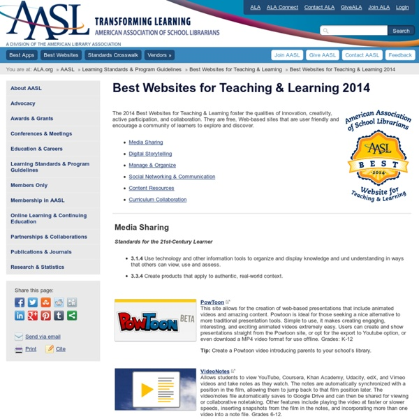Best Websites for Teaching & Learning 2014