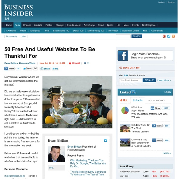 50 Free And Useful Websites To Be Thankful For