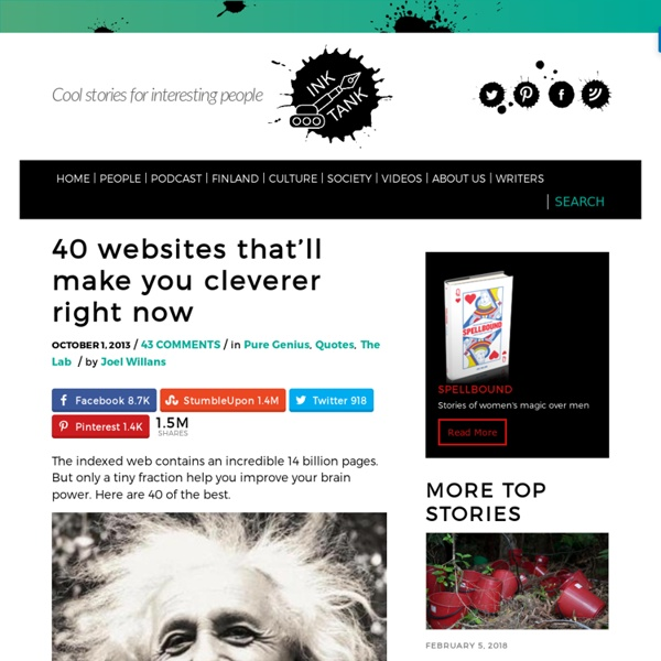 40 websites that will make you cleverer right now