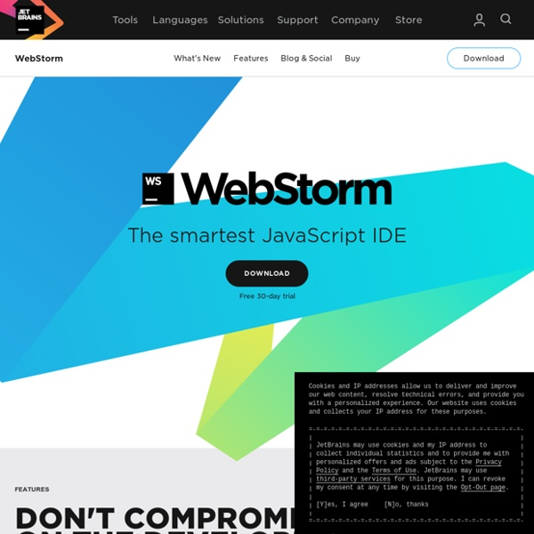WebStorm: The Smartest JavaScript IDE