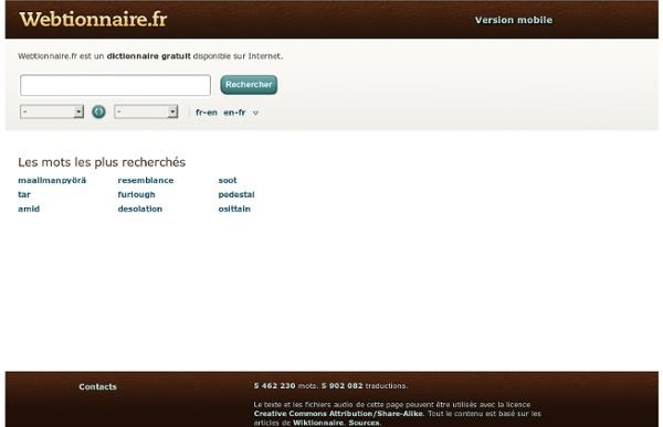 Webtionnaire.fr - le dictionnaire gratuit