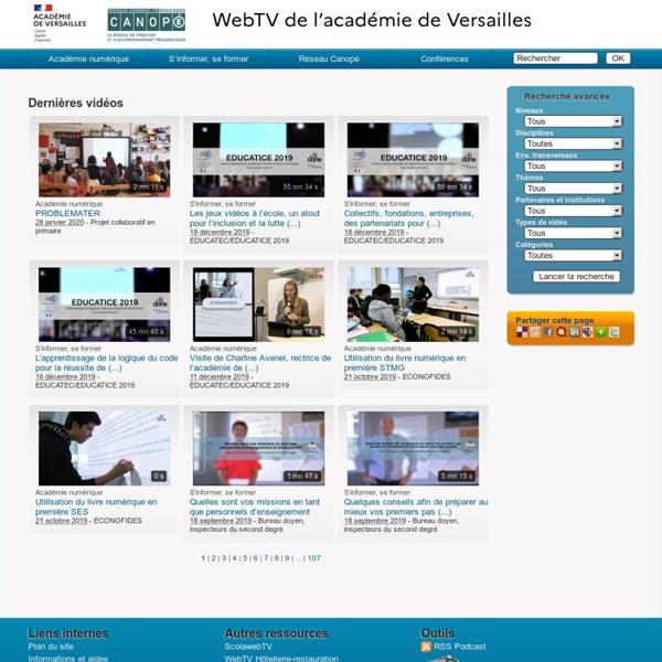 WebTV de l'académie de Versailles