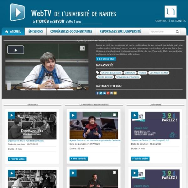 Webtv de l'Université de Nantes - WebTV Université de Nantes