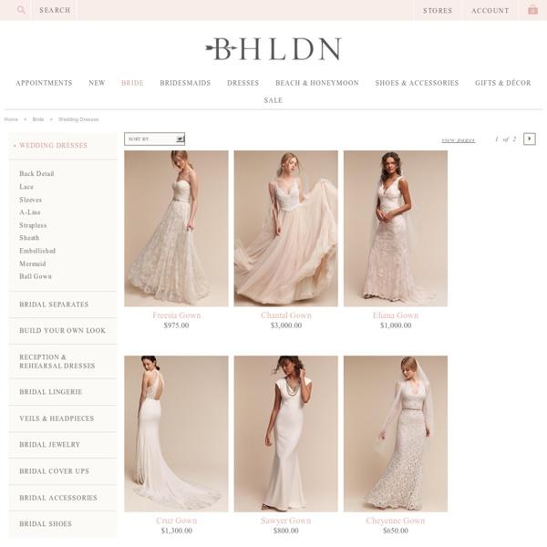 The Bride Wedding Dresses at B H L D N